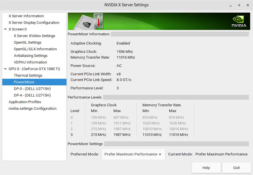 How to Permanently Set NVIDIA PowerMizer Settings in Ubuntu