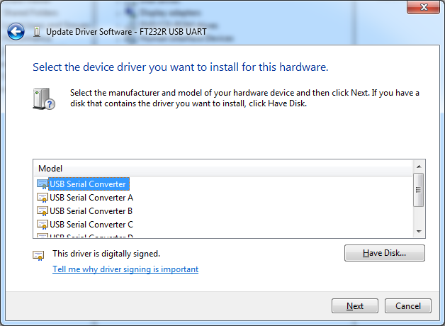 Installing Drivers for an Arduino Nano in Windows