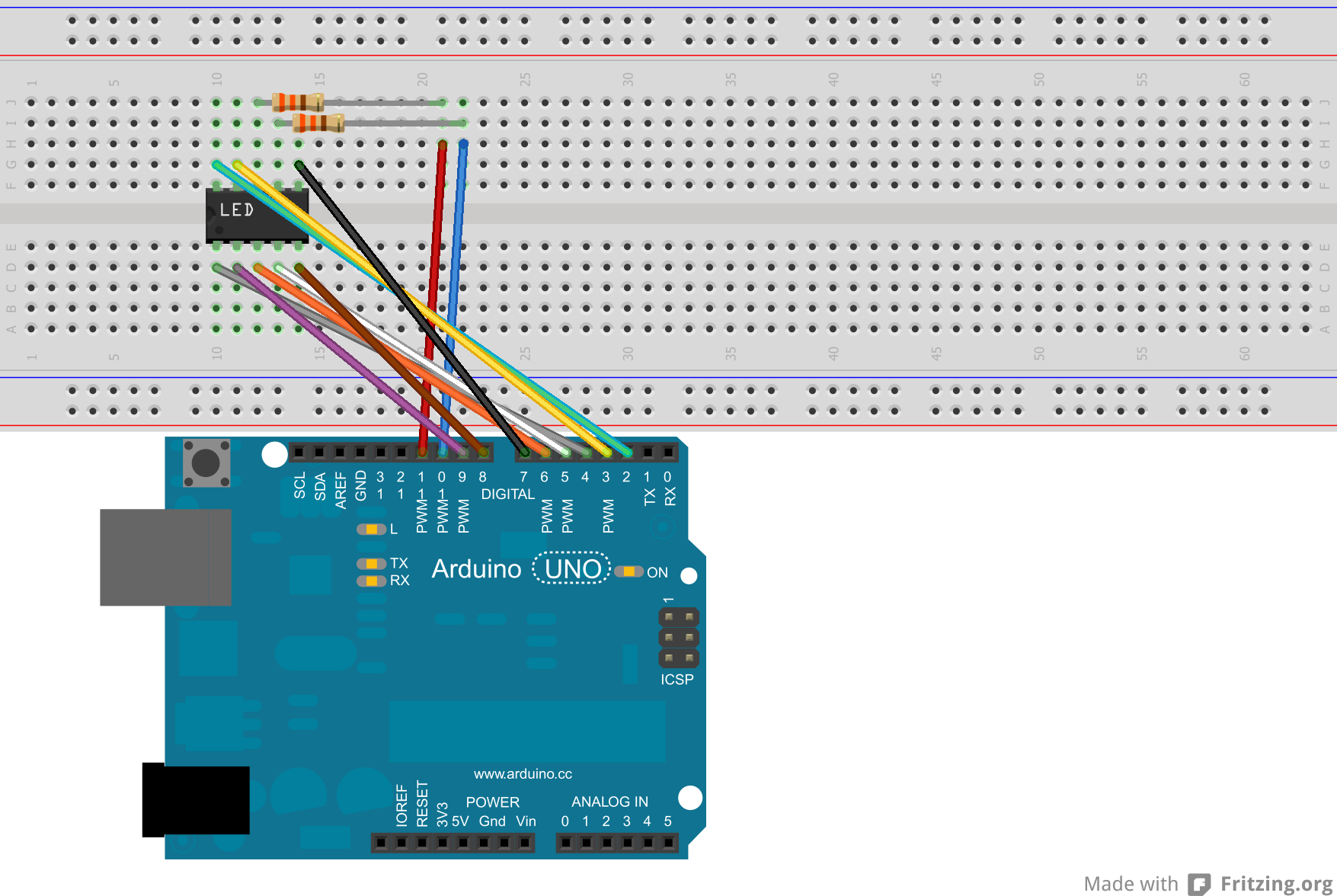 Using A 7 Segment Led Display W Arduino Uno Wiring Diagram An Illustration And Schematic Of This Can Be Found Below